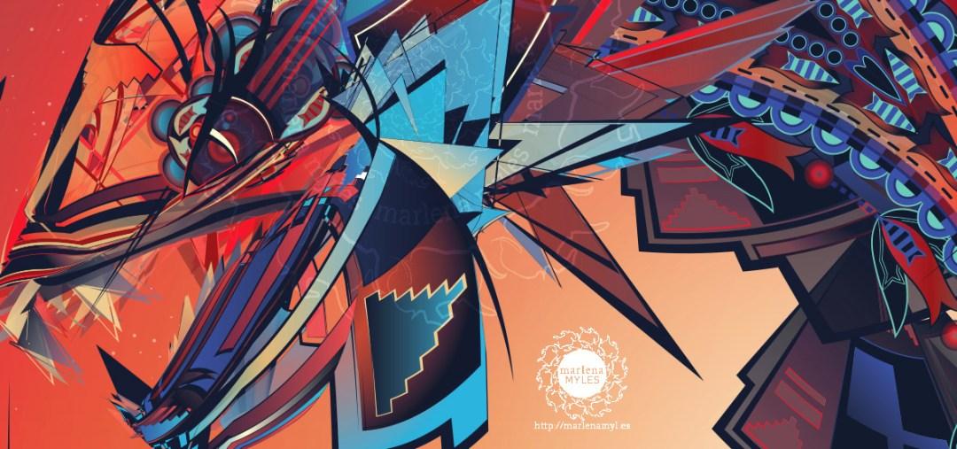 Unk & Unktehi artwork by Marlena Myles