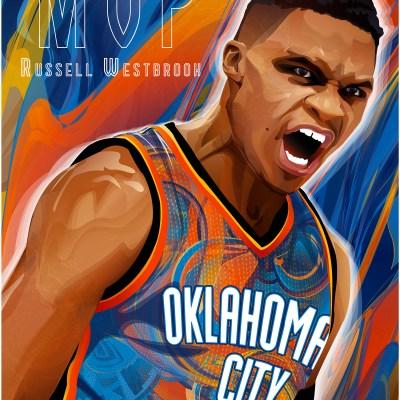 MVP Russell Westbrook Art