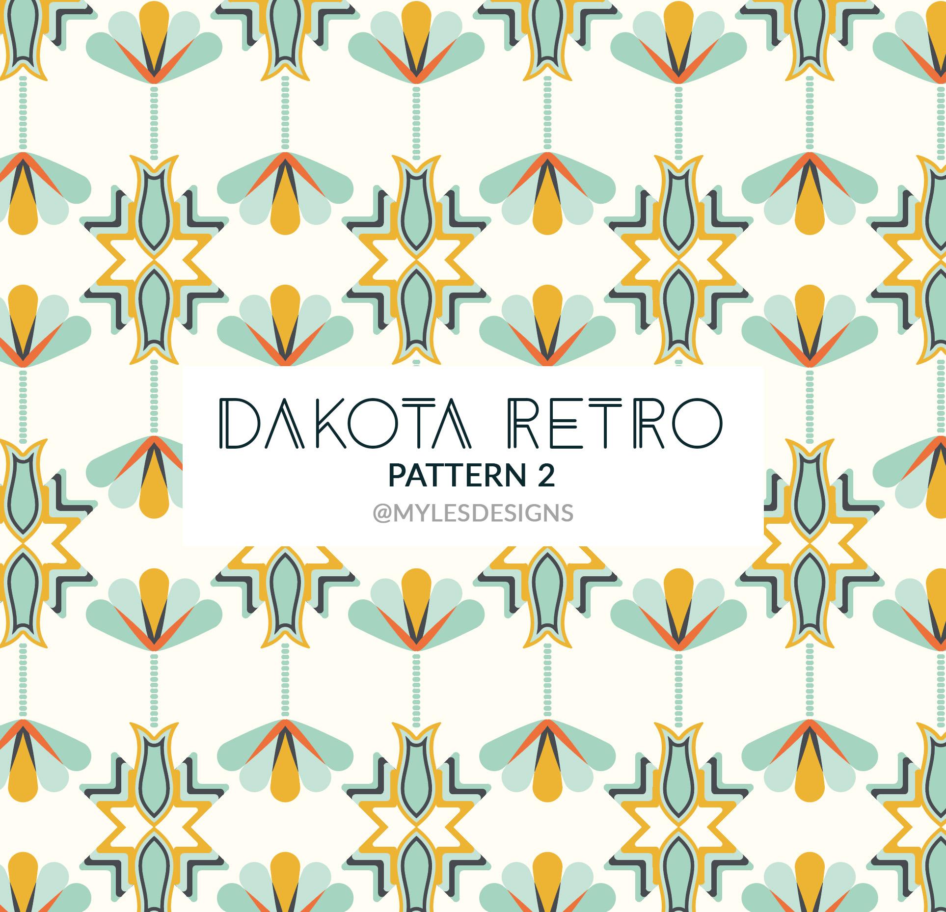 Dakota Retro - Fabric Pattern 2 | Marlena Myles