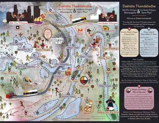 Dakhóta Thamákhočhe Dakota Land Map - Minneapolis & St. Paul