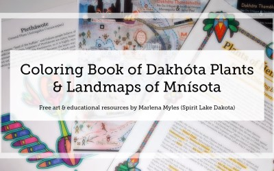 Free Coloring Book of Dakhóta plants & Landmaps of Mnísota