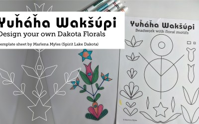 Design your own Dakota Floral worksheet
