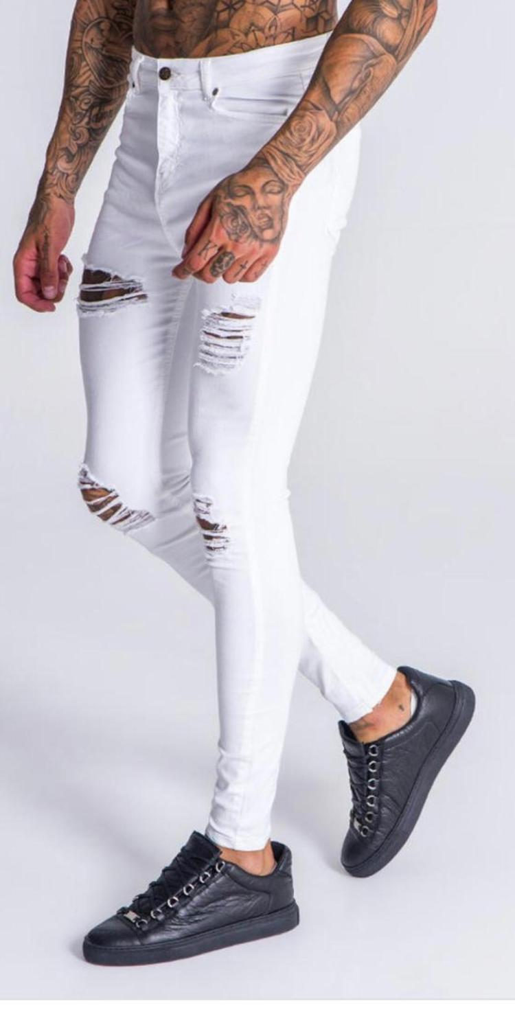 Gianni Kavanagh White Ripped Jeans