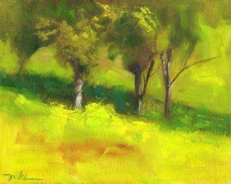 Capay Valley Vineyard, oil, 8 x 10 inch.