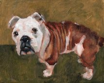 Dozer, oil on canvas panel, 8 x 10 inches