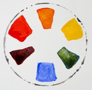 Simple colour wheel - colour theory