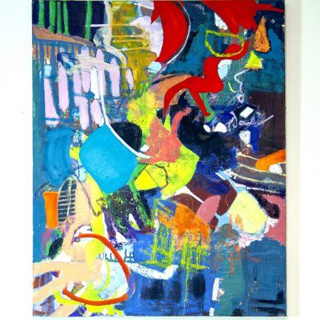 """kaleidoscope eyes oil on canvas 30"""" x 24"""" by Marlene Lowden"""