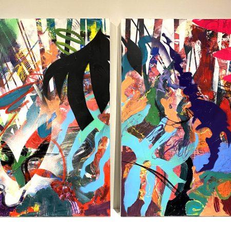 """Lots of sweet dreams 36"""" x 48"""" oil on canvas by Marlene Lowden"""