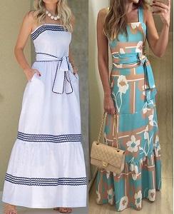 vestido de liganete com babado barato online