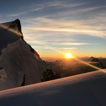 Sonnenaufgang am Mont Maudit