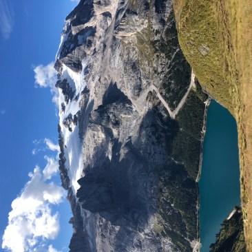 Gletscher- und Seeblick