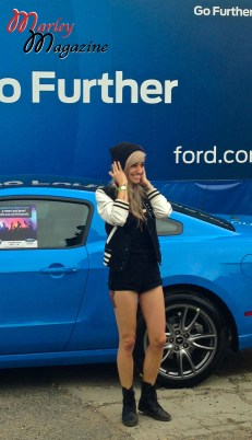 Lights doing a Ford Photo Op before her set at Skate and Surf
