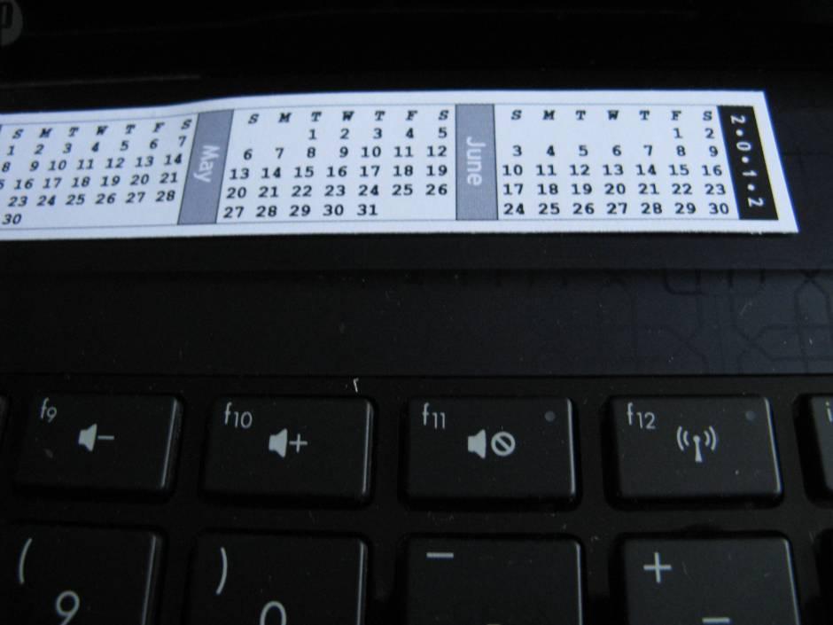 strip calendar