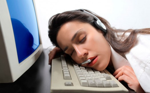 procrastination - asleep at work