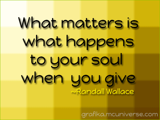 your soul when you give