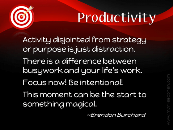 what is productivity by Brendon Burchard