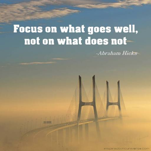 focus on what goes well