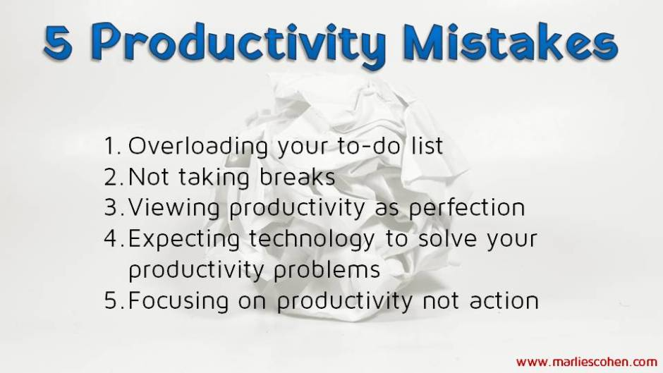 productivity mistakes