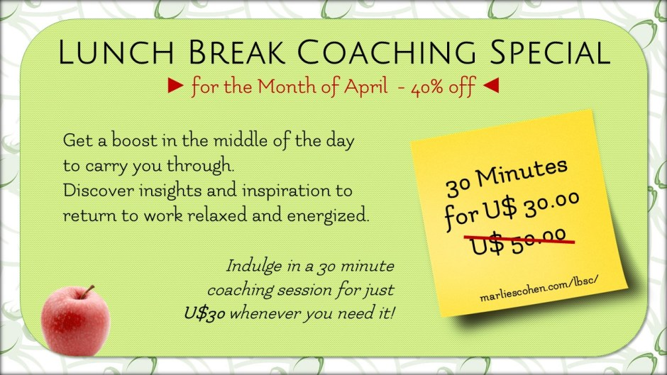 April lunch break coaching special