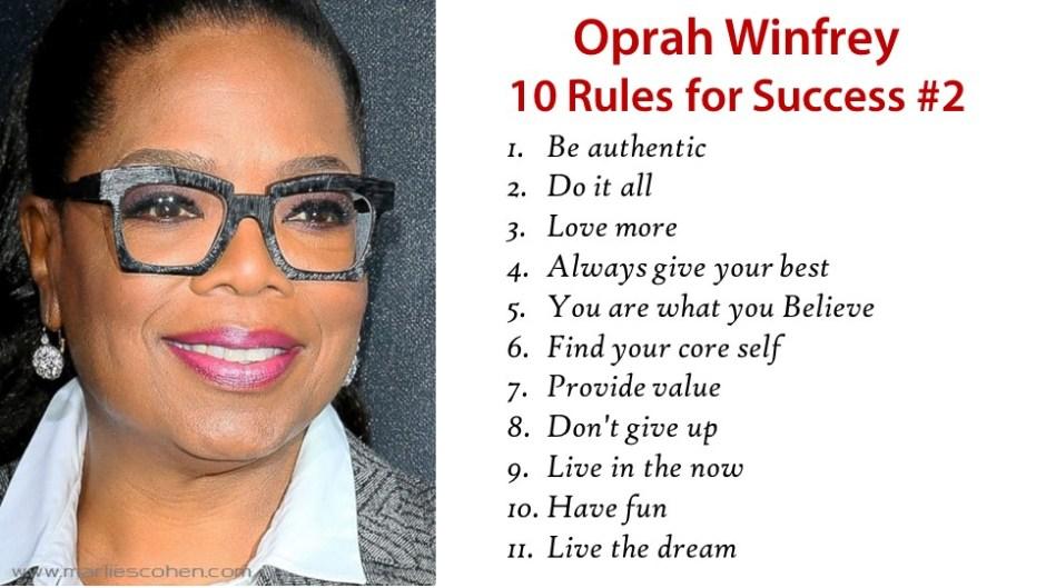 Oprah Winfrey 10 Rules of Success Part 2