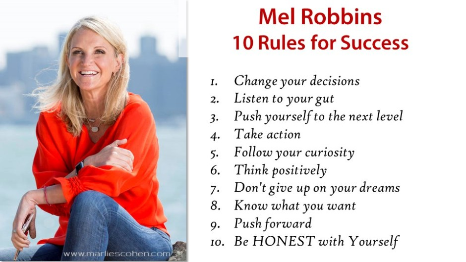 Mel Robbins 10 Secrets to Success