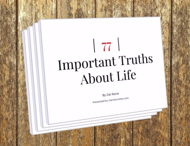 77 important truths about live