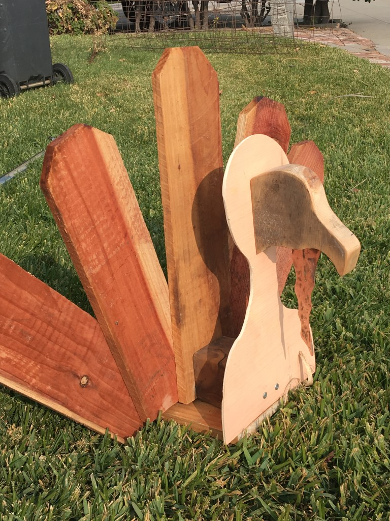 wooden turkey yard art