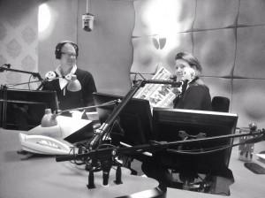 Marcel & Frederique... Tien minuten voor de uitzending. 05.50 uur; that is.