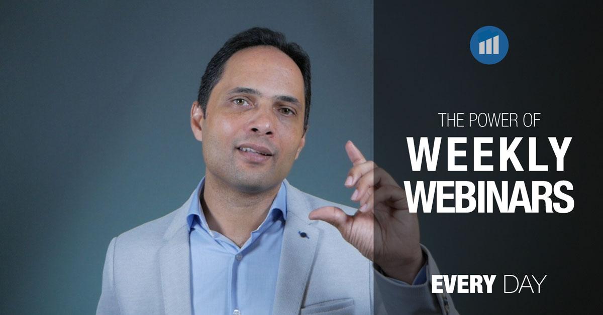 the power of weekly webinars