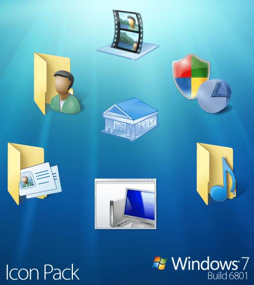 Ícones oficiais do Windows 7!