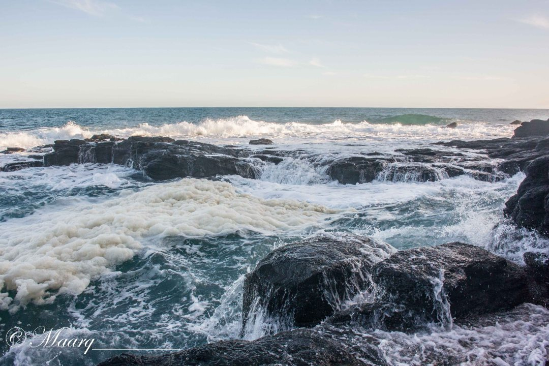A coastline that dares you. I can't but wonder what is underneath. Blowhole, Flinders, VIC