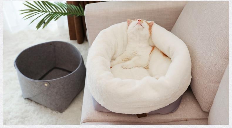 Hoopet Pet Base Del Cane Del Gatto di Riscaldamento Casa Del Cane Materiale Morbido Sacco a Pelo Cuscino Pet Cucciolo Canile