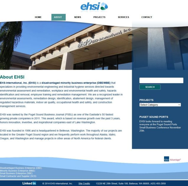 Contractor and Supplier Website