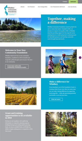 Whidbey Community Foundation website