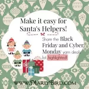 HappyHolidaysPost_santa helper_Black Friday and Cyber Monday Deals for the Yarn Industry at marlybird.com