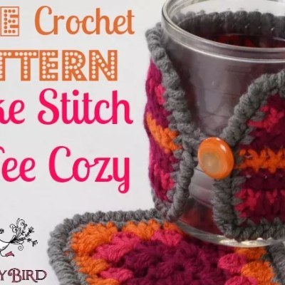 Free Pattern Crochet Spike Stitch Coffee Cozy
