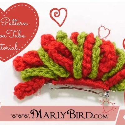 Free Crochet Pattern Holiday Barrette