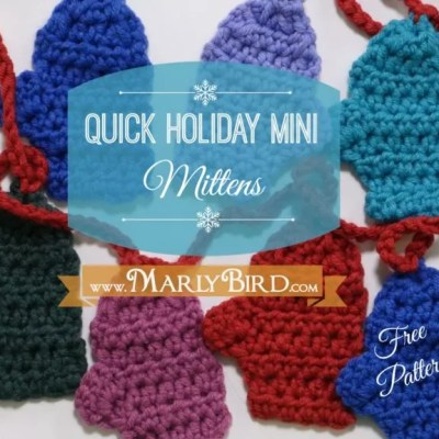 Free Crochet Pattern Quick Mini Mitten Garland