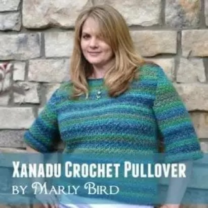 Free Pattern and Video Tutorial for the Xanadu Crochet Pullover by Marly Bird