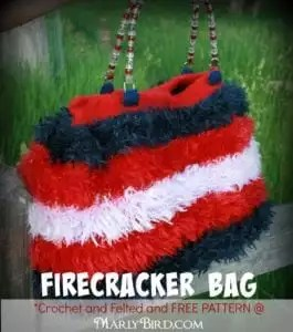 Firecracker Bag Pattern FREE at MarlyBird.com