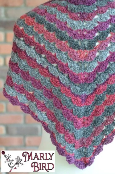 No Stopping Me Now Shawl, Free Crochet Pattern with Chart
