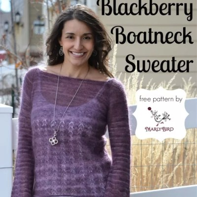 Blackberry Boatneck Sweater