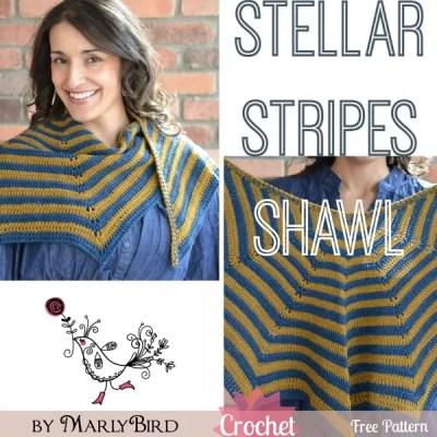 Stellar Stripes Crochet Shawl