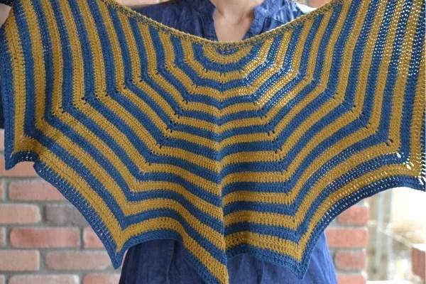 Stellar Stripes Shawl by Marly Bird: Free Pattern Crochet