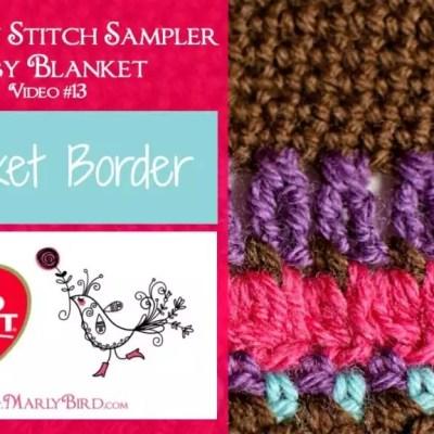 Stitch Sampler Baby Blanket Border