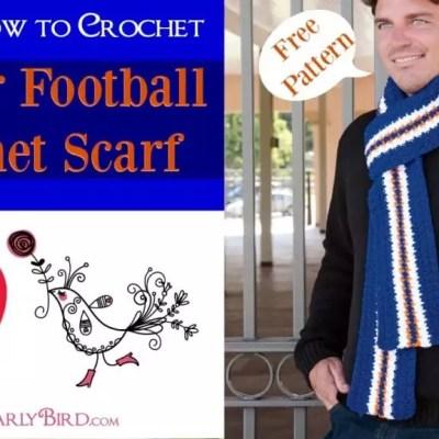 Denver Football Free Crochet Scarf Pattern