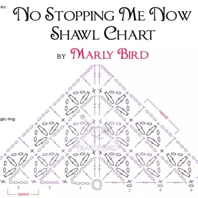 No Stopping Me Now Shawl Crochet Chart