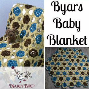 Byars Baby Blanket by Marly Bird. Free Crochet Pattern and Video Tutorial