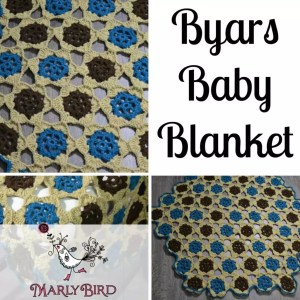 Byars Baby Blanket by Marly Bird. Free Pattern and Video Tutorial for join as you go Motifs.