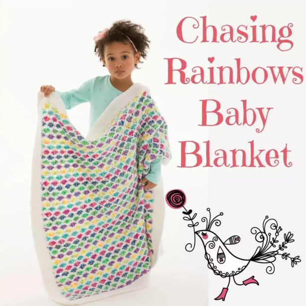 LW5174 Chasing Rainbows Baby Blanket by Marly Bird